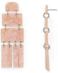 Aqua - Marble Earrings - Lyst