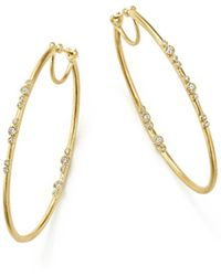 Armenta - 18k Yellow Gold Sueno Diamond Eternity Hoop Earrings - Lyst