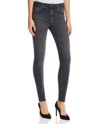 AG Jeans - Farrah High Rise Skinny Jeans In Grey Mist - Lyst