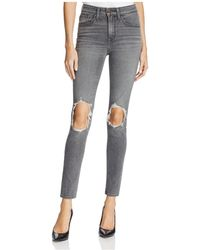 Levi's - 721® High Rise Skinny Jeans In Washed Black - Lyst