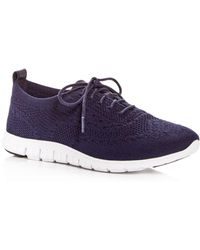 Cole Haan - Women's Zerogrand Stitchlite Knit Lace Up Sneakers - Lyst