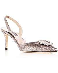 SJP by Sarah Jessica Parker - Women's Mabel Glitter Slingback Court Shoes - Lyst