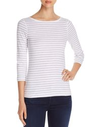 Three Dots - British Striped Tee - Lyst