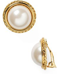 Carolee - Rope Imitation-pearl Clip On Earrings - Lyst