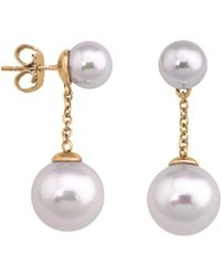 Majorica - Simulated Pearl Round Drop Earrings - Lyst