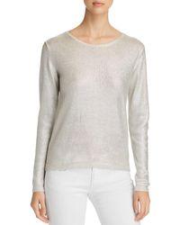 Majestic Filatures - Long-sleeve Metallic Sweater - Lyst