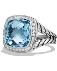 David Yurman - Albion Ring With Blue Topaz And Diamonds - Lyst
