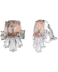 Carolee - Cluster Clip-on Earrings - Lyst