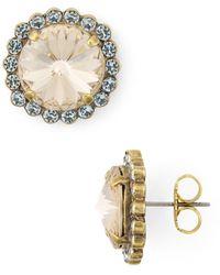 Sorrelli - Washed Waterfront Aspen Swarovski Crystal Stud Earrings - Lyst