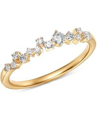 Adina Reyter - 14k Yellow Gold Scattered Diamond Row Ring - Lyst