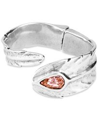 Uno De 50 - Look At Me Crystal Bypass Cuff Bracelet - Lyst