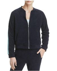 Marc New York - Performance Stripe-trimmed Terry Bomber Jacket - Lyst