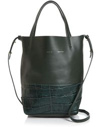 Alice.D - Small Croc-embossed Leather Tote - Lyst