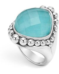 Lagos - Sterling Silver Maya Escape Turquoise Doublet Dome Ring - Lyst