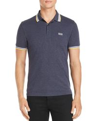 BOSS - Paddy Tipped Polo Shirt - Lyst