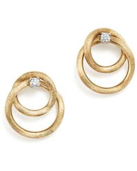 Marco Bicego - 18k Yellow Gold Luce Diamond Link Stud Earrings - Lyst
