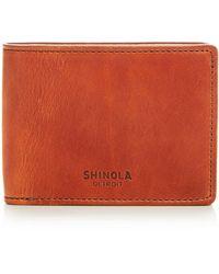 Shinola - Slim Leather Bi-fold Wallet - Lyst
