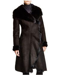 Maximilian - Maximilian Shearling Coat With Toscana Collar - Lyst