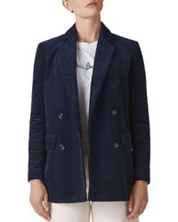 Whistles - Double-breasted Corduroy Blazer - Lyst