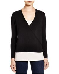 NIC+ZOE - Nic + Zoe Long Sleeve Wrap Jumper - Lyst