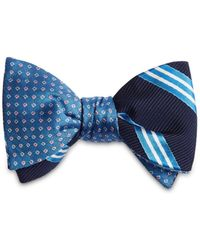 Brooks Brothers - Stripes Reversible Bow Tie - Lyst