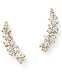 Bloomingdale's - Small Diamond Scatter Ear Climbers In 14k Yellow Gold, .30 Ct. T.w. - Lyst