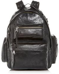 John Varvatos - Gramercy Leather Backpack - Lyst