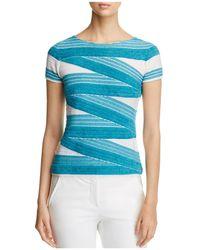 Armani - Textured Striped Top - Lyst