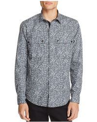 W.r.k. - Printed Cotton Shirt Jacket - Lyst