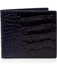 Smythson - Mara Printed Calf Leather Wallet - Lyst