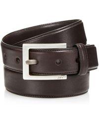 John Varvatos - Leather Dress Belt - Lyst