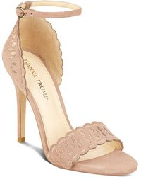 Ivanka Trump - Helina Scalloped High Heel Ankle Strap Sandals - Lyst