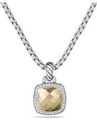 David Yurman - Albion Pendant With Diamonds And 18k Gold - Lyst