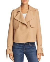 Avec Les Filles - Cropped Trench Coat - Lyst