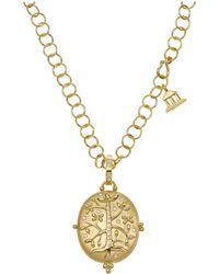 Temple St. Clair | 18k Yellow Gold Tree Of Life Locket With Diamonds | Lyst