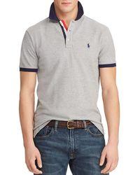 89a703e3 Polo Ralph Lauren Slim-fit Mesh Polo Shirt in Black for Men - Lyst
