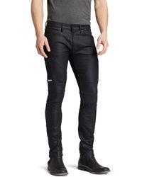 HUGO - Jeans - 45 Moto Slim Fit In Black - Lyst