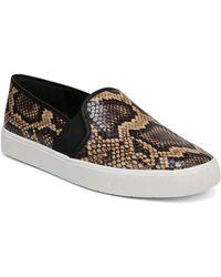 Vince - Women's Blair-5 Snake-print Leather Slip-on Sneakers - Lyst
