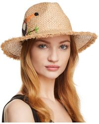Echo - Excursion Embroidered Panama Hat - Lyst