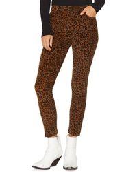 Sanctuary - Social Affair Corduroy Skinny Jeans In Leopard - Lyst