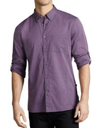 John Varvatos - John Varvatos Basic Button-down Shirt - Slim Fit - Lyst