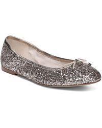 e4b76a09027cd Sam Edelman Augusta Scalloped Ballet Flats in Brown - Lyst