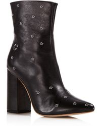 RAYE - Miles Leather Embroidered Star High-heel Booties - Lyst
