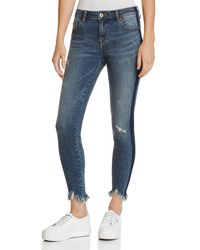 Pistola - Audrey Side-stripe Distressed Skinny Jeans In Situational - Lyst