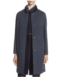 Maximilian | X Manzoni 24 Wool Coat With Mink Fur Vest | Lyst