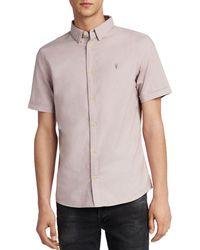 AllSaints - Huntingdon Slim Fit Button-down Shirt - Lyst
