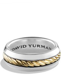 David Yurman - Cable Classics Ring With 18k Gold - Lyst