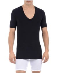 Tommy John - Cool Cotton Deep V Neck Tee - Lyst