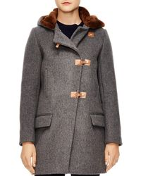 Sandro - Matteo Sheep Shearling-trimmed Coat - Lyst