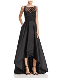 Adrianna Papell - Beaded-bodice High/low Gown - Lyst